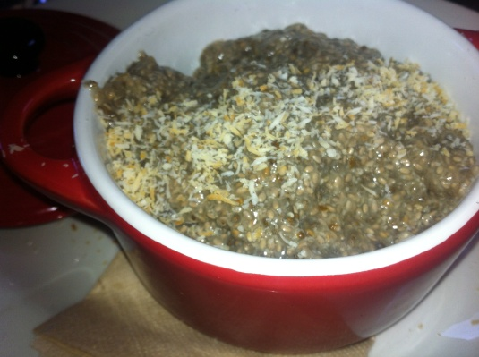 Vanilla, coconut chia seed pudding