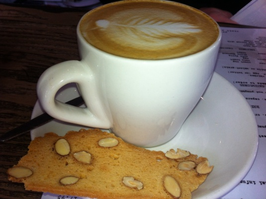 Flat White with Biscotti