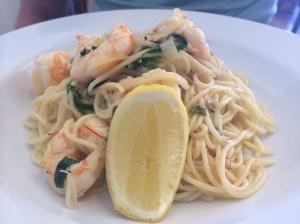 Spaghettini Pasta with Prawns
