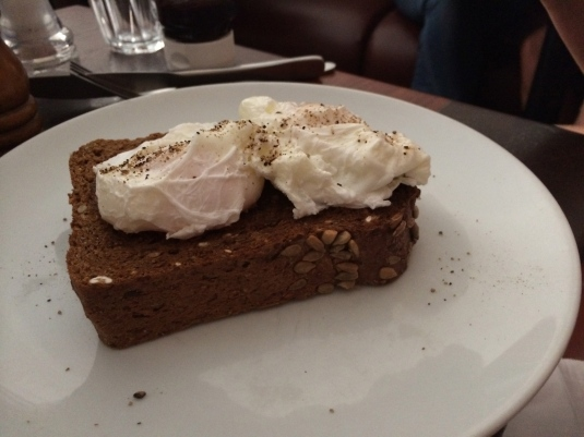Poached Eggs on Rye